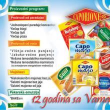 Caporione doo Veternik - Proizvodni program